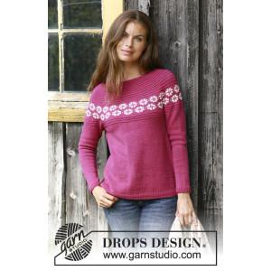 Daisy Delight by DROPS Design - Stickmönster blus str. S - XXXL