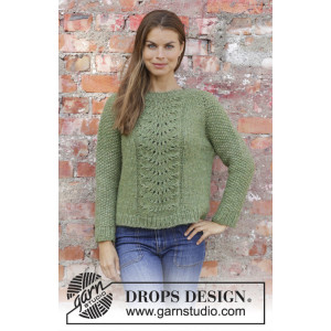 Clover by DROPS Design - Stickmönster blus str. S - XXXL