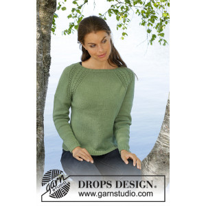 Green Wood by DROPS Design - Stickmönster blus str. S - XXXL