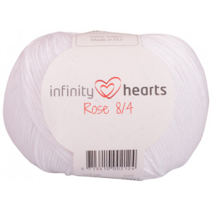 Infinity Hearts Rose 8/4 Garn Unicolor 02 Vit