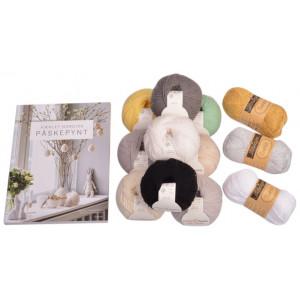 Virkat Nordiskt Påskpynt bok inkl. Infinity Hearts Baby Merino kit