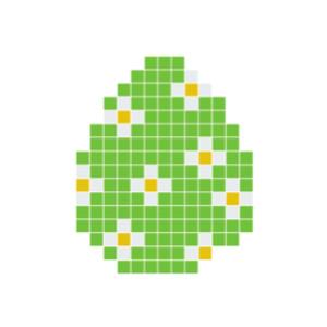 Påskägg Grön Pixelhobby - Påsk-pärlmönster
