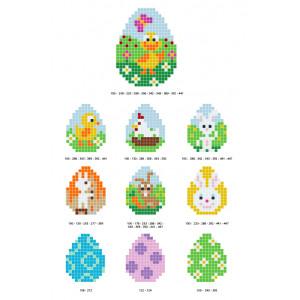 Påskmönster Pixelhobby - Påsk-pärlmönster - 10 st