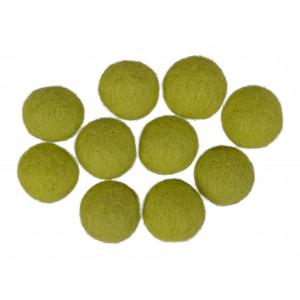 Filtkulor 20mm Ljusgrön GN3 - 10 st.