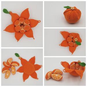 Karlas Apelsin av Rito Krea - Frukt Virkmönster 22 cm