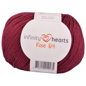 Infinity Hearts Rose 8/4 Garn Unicolor 21 Bordeaux Röd
