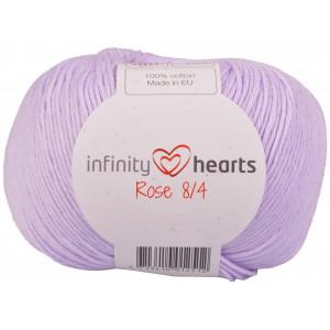 Infinity Hearts Rose 8/4 Garn Unicolor Ljus Lila