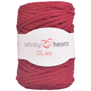 Infinity Hearts 2XLace Garn 30 Bordeaux Röd