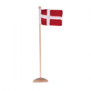 Stickad Dansk Flagga Rito Krea - Flagga Stickmönster 12x16cm