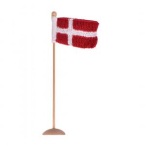 Stickad dansk flagga från Rito Krea - Flagga stickmönster 8x12cm