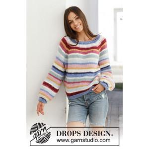 Happy Stripes by DROPS Design - Blus Stickmönster str. S - XXXL