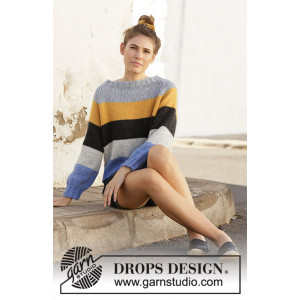 Valencia by DROPS Design - Blus stickmönster str. S - XXXL