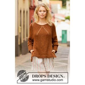 Autumn Spice by DROPS Design - Blus stickmönster str. S - XXXL