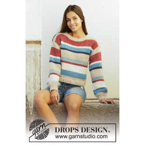 Bretagne by DROPS Design - Blus stickmönster str. S - XXXL