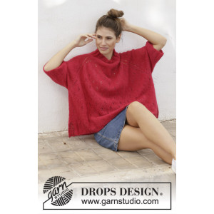 Strawberry Swing by DROPS Design - Blus stickmönster str. S - XXXL