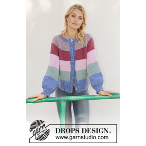 Sweet Country Sunrise Jacket by DROPS Design - Jacka stickmönster str. S - XXXL