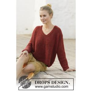Robin Song by DROPS Design - Blus sticksmönster str. S - XXXL