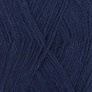 Drops Alpaca Garn Unicolor 5575 Marinblå