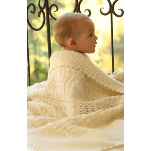 Princess Chantilly by DROPS Design - Baby Filt Stick-mösnter 65x80 cm