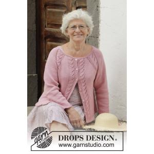Peonia Cardigan by DROPS Design - Jacka Virkmönster str. S - XXXL