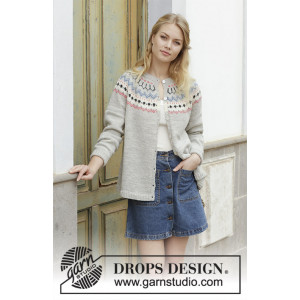 Mina Cardiganby DROPS Design - Jacka Stickmönster str. S - XXXL