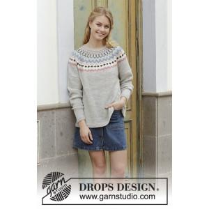 Mina Pulloverby DROPS Design - Blus Stickmönster str. S - XXXL