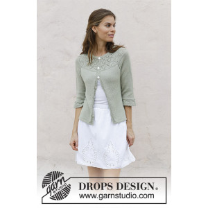 Summer Evening Cardigan by DROPS Design - Jacka Sticksmönster str. S - XXXL