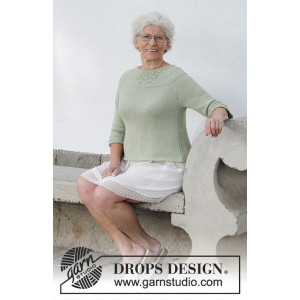 Summer Evening Jumperby DROPS Design - Blus Stickmönster str. S - XXXL