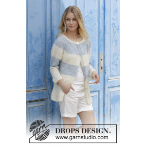 Sailor's Luck Cardigan by DROPS Design - Jacka Stickmönster str. S - XXXL
