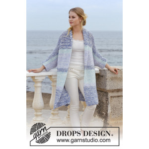 La Mareby DROPS Design - Jacka Stickmönster str. S - XXXL