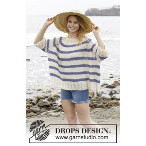Riviera Stripes by DROPS Design - Blus Stickmönster str. S - XXXL