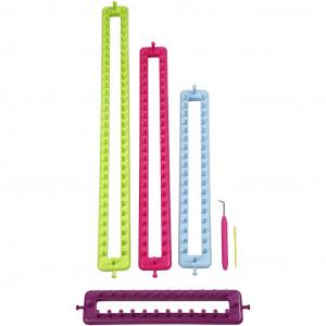Påtringsset / Knitting ring set Avlånga - 4 storlekar inkl. nål och krok