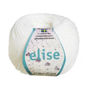Järbo Elise Garn Unicolor 69201 Vit