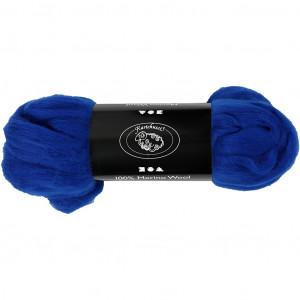 Merinoull, 21 my, 100 g, kungsblå