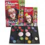 Eulenspiegel ansiktsfärg med steg-för-stegbeskrivning, 1 set, mixade färger
