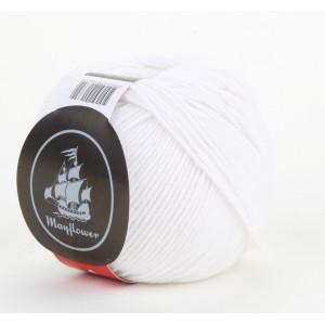 Mayflower Cotton 1 Garn 122 Vit