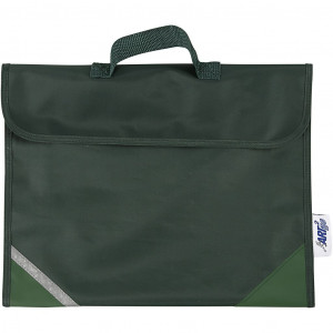 Køb Skolväska, stl. 36×29 cm, djup 9 cm, 1 st., grön