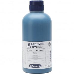 Køb Schmincke AKADEMIE® Acryl color, semi-opaque, 500 ml, turquoise (450)