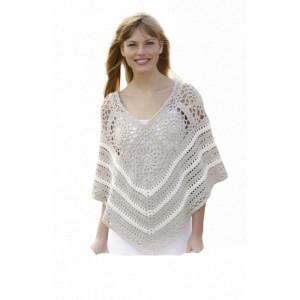 Køb Sweet Martine by DROPS Design – Poncho med Mormorsrutor Virk-mönster s