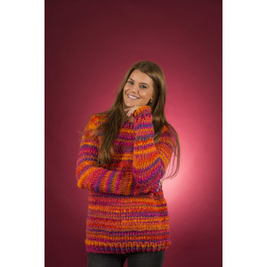 Mayflower Easy Knit Damtröja med rund hals - Blus Stickmönster str. S - XXXL