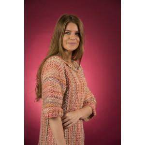 Mayflower Easy Knit Vamset Tjocktröja med 3/4-ärmar - Blus Stickmönster str. S - XXXXL