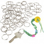 Nyckelringar, dia. 25 mm, 100 st.