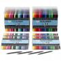 Textiltusch, spets: 2,3+3,6 mm, 24x20 st., standardfärger, kompletterande färger