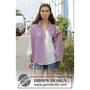French Lavenderby DROPS Design - Stola Virkmönster 157x36 cm.