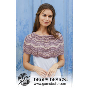 Summer Sand by DROPS Design - Poncho Stickmönster One-size