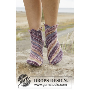 Jupiter by DROPS Design - Strumpor Stick-opskrift strl. 35/37 - 41/43