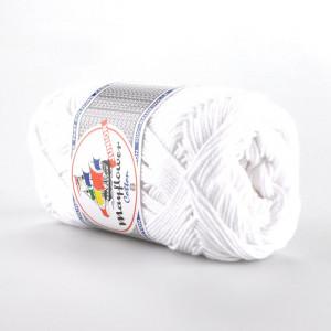 Mayflower Cotton 8/4 Junior Garn Unicolor 1402 Vit