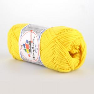 Mayflower Cotton 8/4 Junior Garn Unicolor 1405 Gul