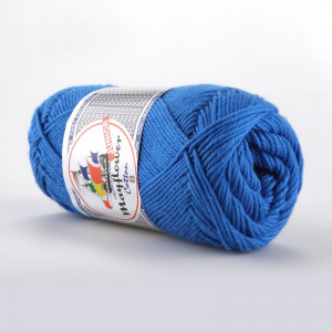 Mayflower Cotton 8/4 Junior Garn Unicolor 1420 Blå