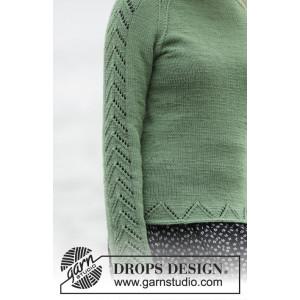 Green Forest by DROPS Design - Tröja Stick-opskrift strl. S - XXXL